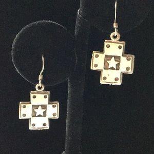 Jewelry - Sterling Cross Earrings 925